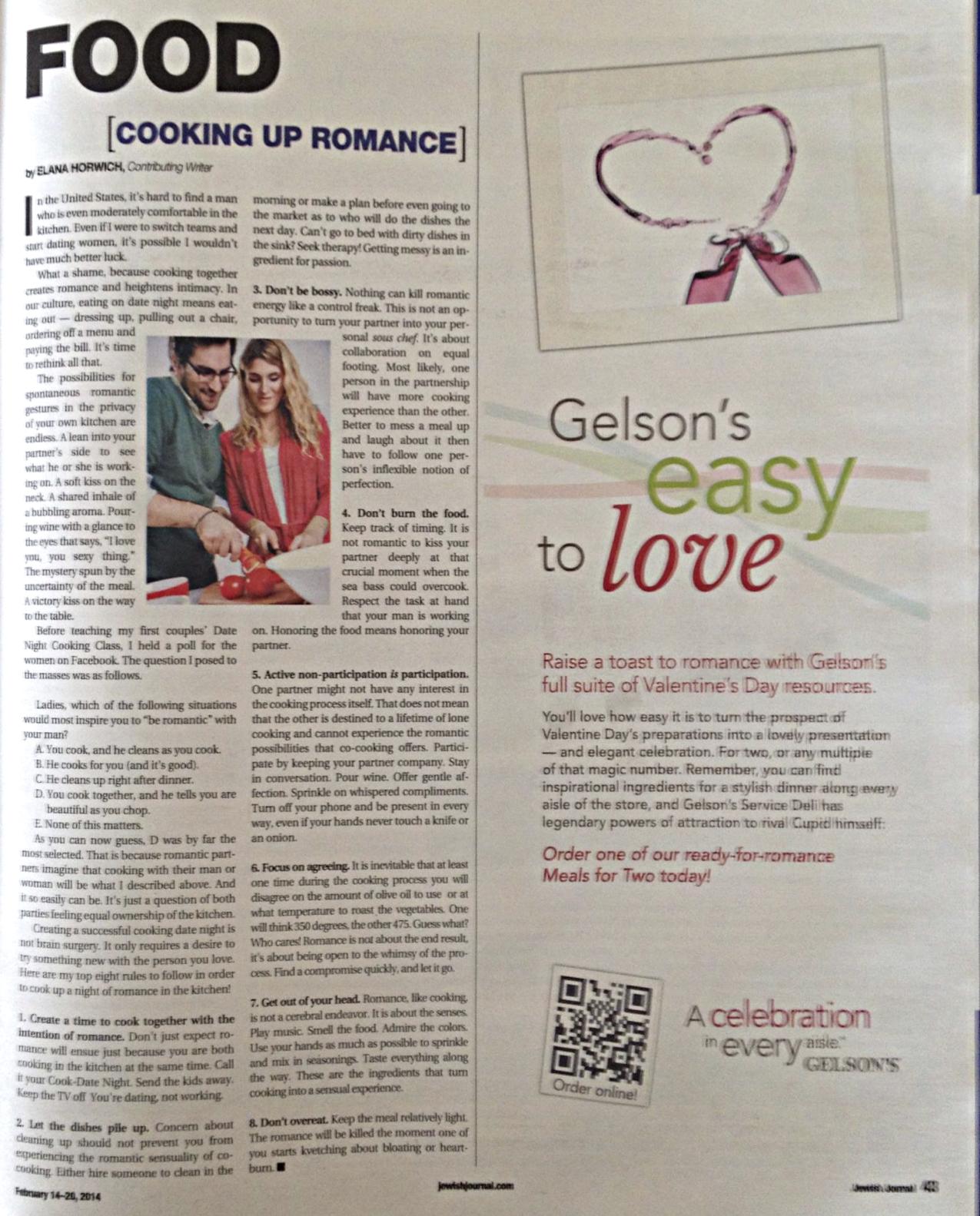 Cooking Up Romance Jewish Journal