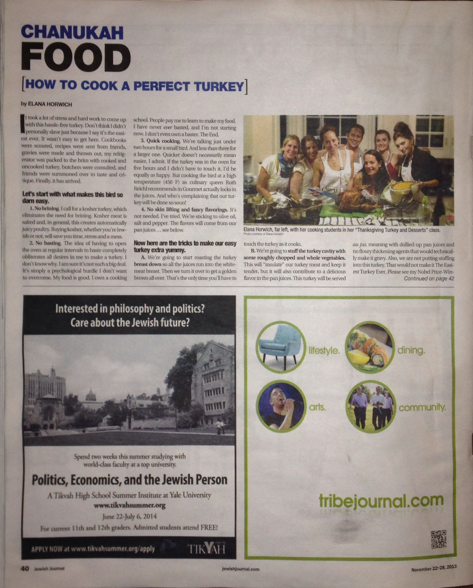 Jewish Journal - How to Cook a Perfect Turkey p.1