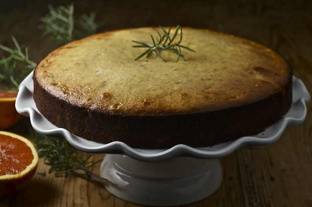 Rosemary Almond Olive Oil Cake620