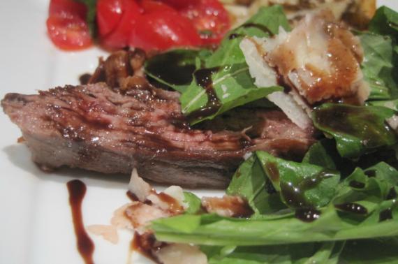 Steak with Arugula