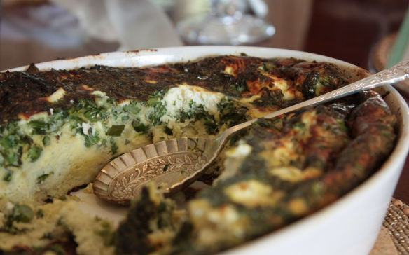 Roasted Asparagus and Fresh Herb Frittata with Goat Cheese ...