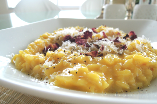Risotto with Rose Water and Saffron